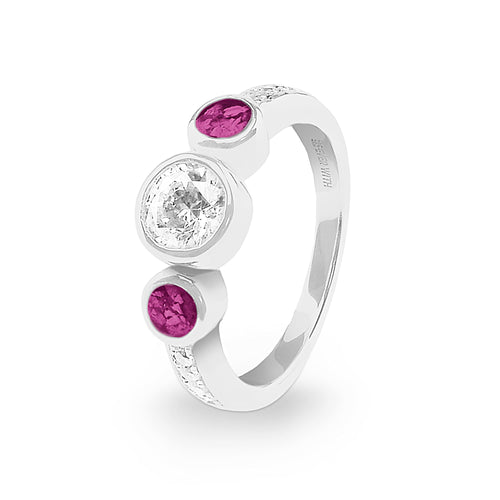 EverWith™ Ladies Jewel Memorial Ashes Ring with Swarovski Crystal