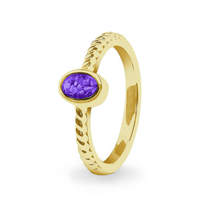 EverWith™ Ladies Petite Guard Memorial Ashes Ring