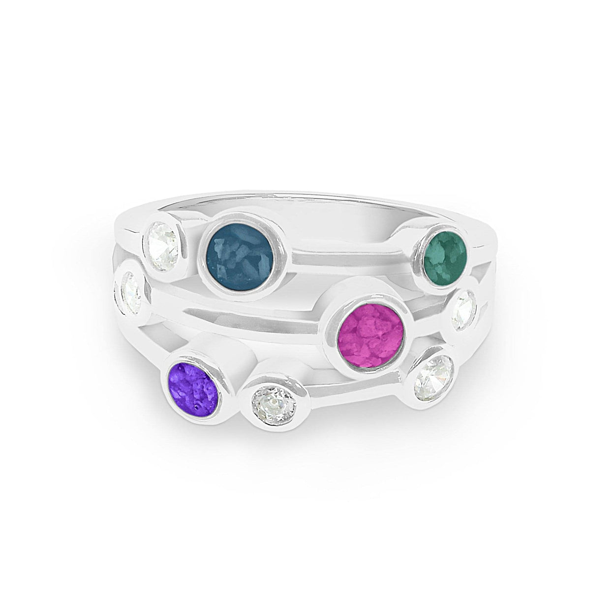 Load image into Gallery viewer, EverWith™ Ladies Droplets Memorial Ashes Ring with Swarovski Crystals