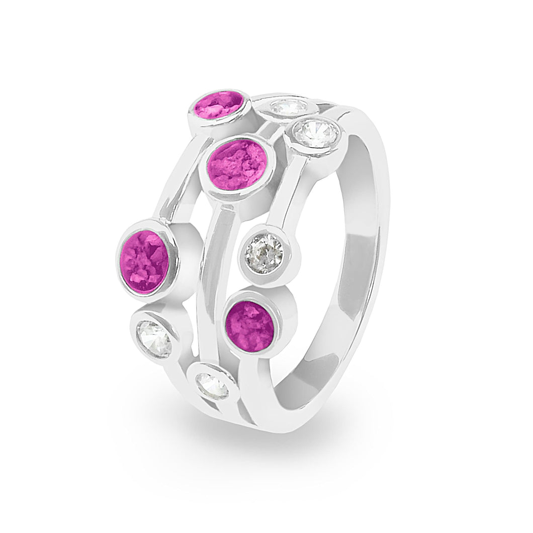 EverWith™ Ladies Droplets Memorial Ashes Ring with Swarovski Crystals