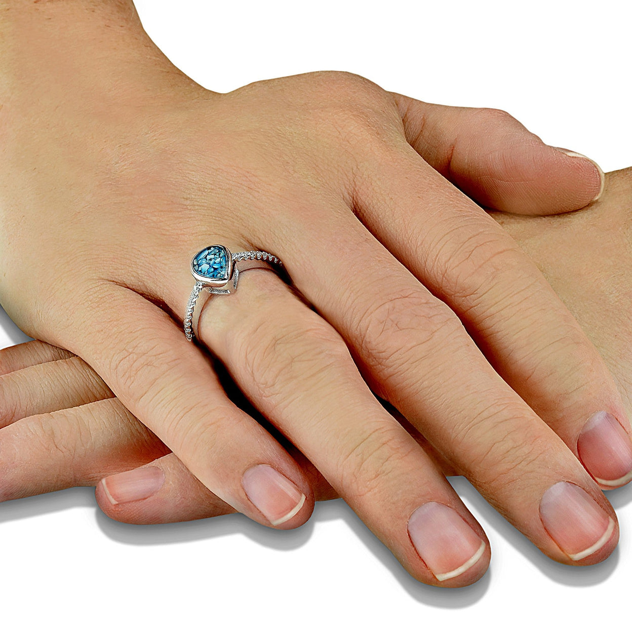 Load image into Gallery viewer, EverWith™ Ladies Teardrop Memorial Ashes Ring