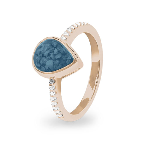 EverWith Ladies Teardrop Memorial Ashes Ring