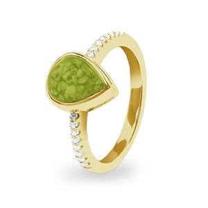 EverWith™ Ladies Teardrop Memorial Ashes Ring