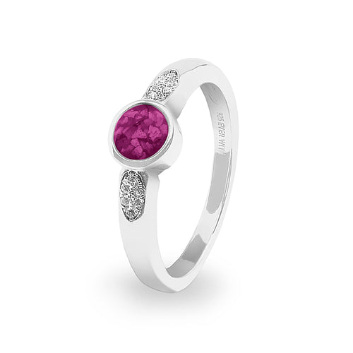 EverWith Ladies Special Memorial Ashes Ring with Fine Crystals