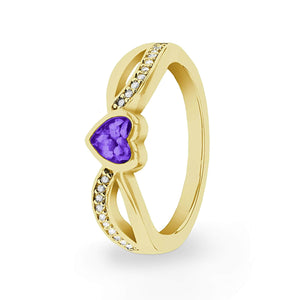 EverWith™ Ladies Truelove Memorial Ashes Ring with Swarovski Crystals