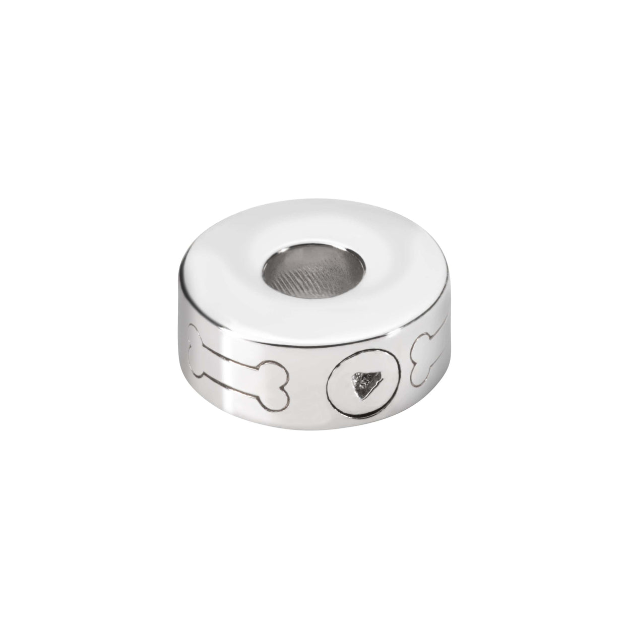 Load image into Gallery viewer, EverWith  Self-fill Round Dog Bone Memorial Ashes Charm Bead