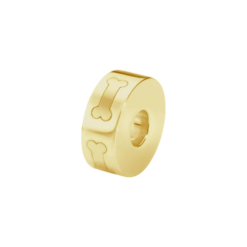 EverWith  Self-fill Round Dog Bone Memorial Ashes Charm Bead