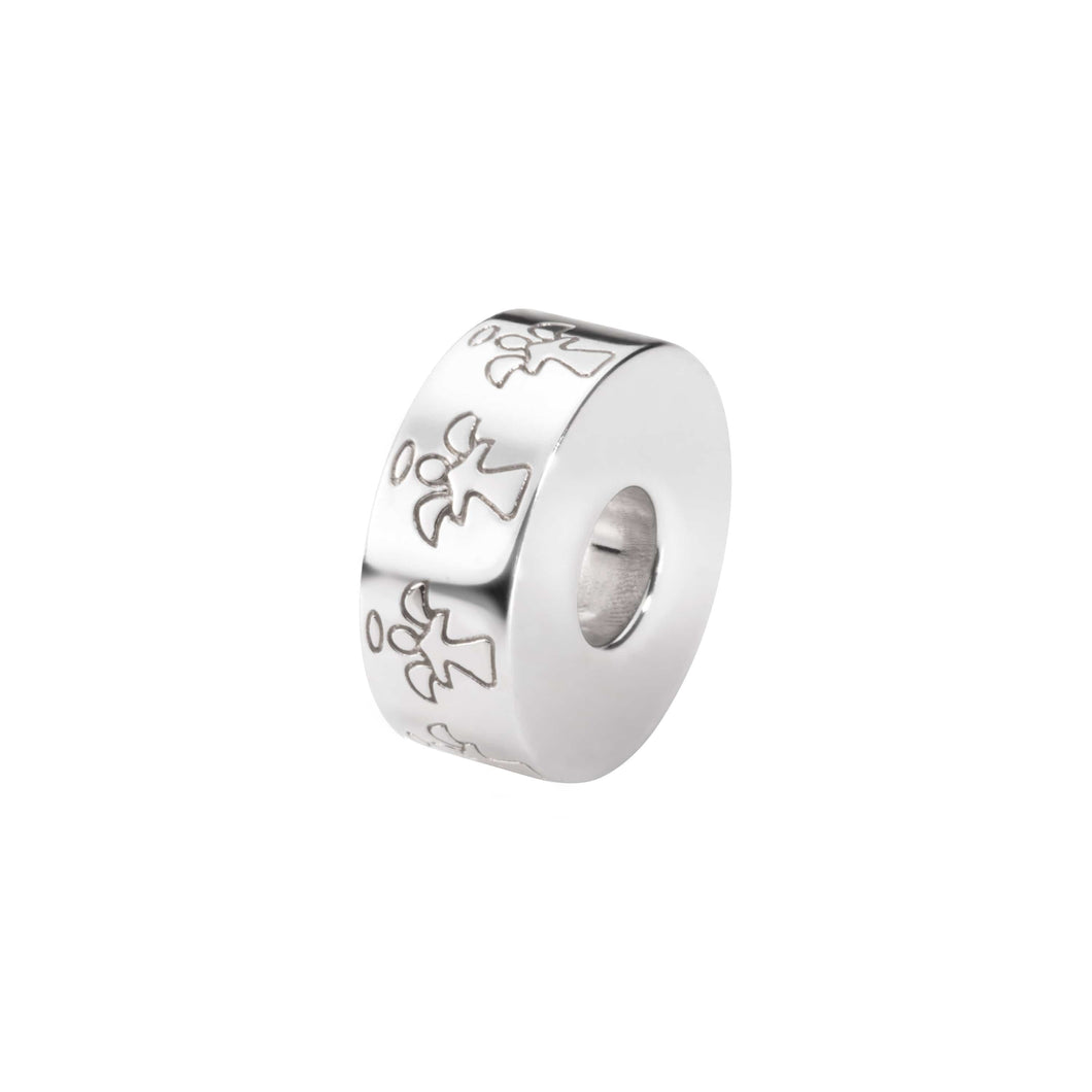 EverWith™ Round Angel Memorial Ashes Charm Bead