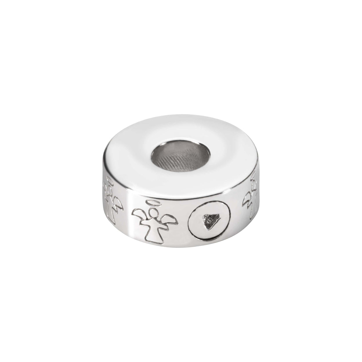 Load image into Gallery viewer, EverWith  Self-fill Round Angel Memorial Ashes Charm Bead