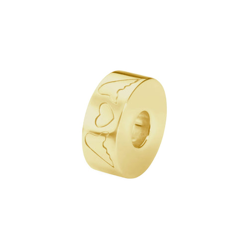 EverWith  Self-fill Round Winged Hearts Memorial Ashes Charm Bead