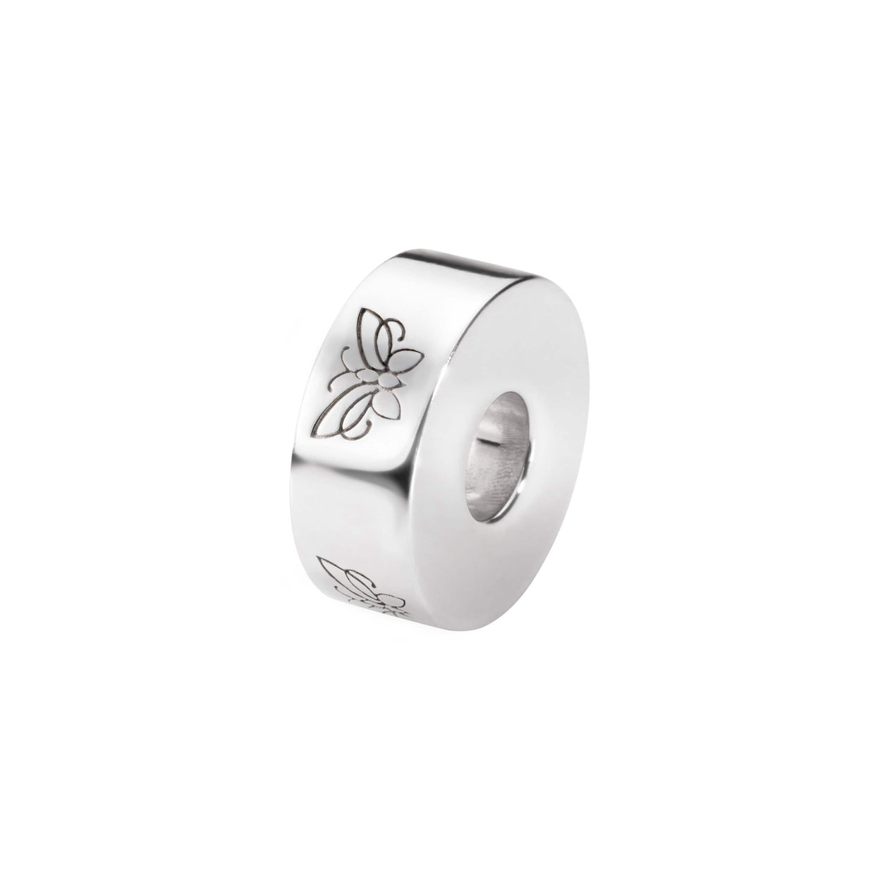 Load image into Gallery viewer, EverWith™  Self-fill Round Butterfly Memorial Ashes Charm Bead