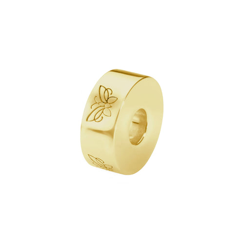 EverWith  Self-fill Round Butterfly Memorial Ashes Charm Bead