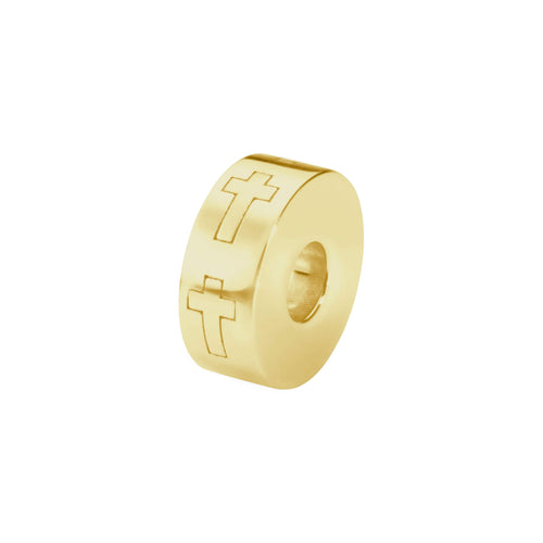 EverWith  Self-fill Round Cross Memorial Ashes Charm Bead