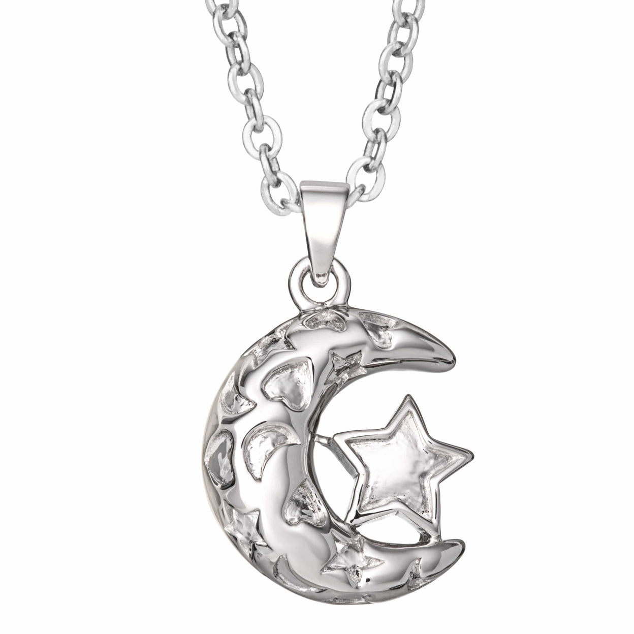 Load image into Gallery viewer, EverWith Self-fill Moon and Stars Memorial Ashes Pendant
