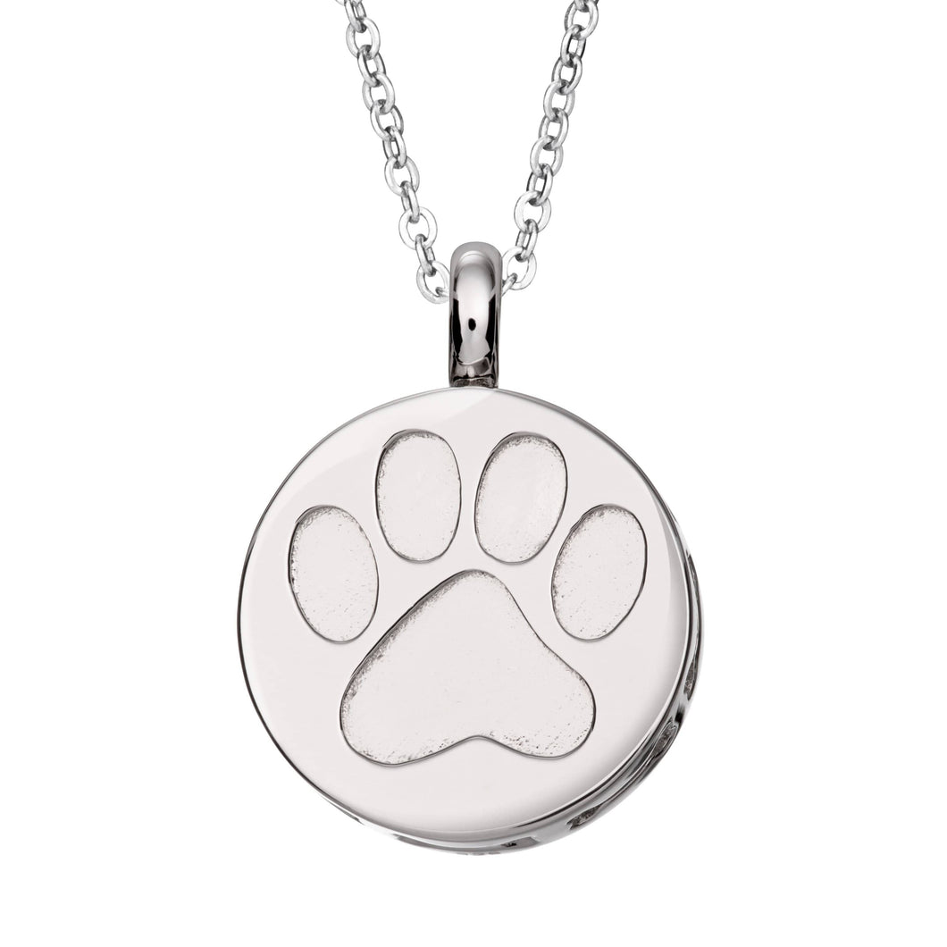 EverWith™ Self-fill Paw Print Cremation Ashes Pendant
