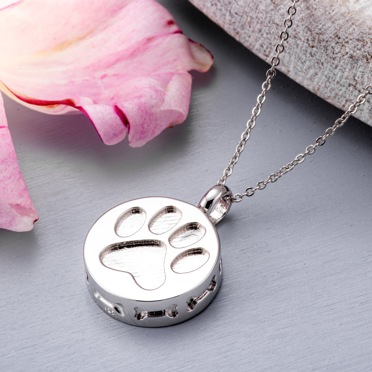 Load image into Gallery viewer, EverWith™ Self-fill Paw Print Cremation Ashes Pendant