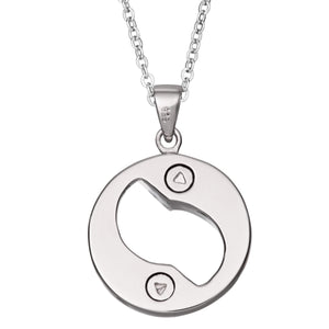 EverWith™ Self-fill Yin Yang Dual Chamber Memorial Ashes Pendant with Crystals