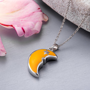 EverWith™ Self-fill Yellow Moon Cremation Ashes Pendant