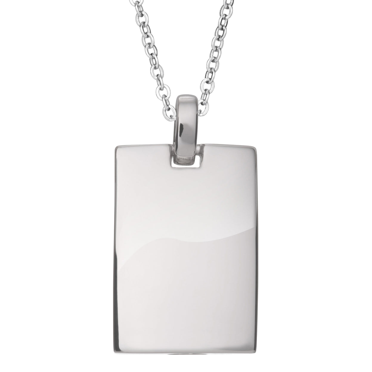 Load image into Gallery viewer, EverWith™ Self-fill Black Dog Tag Cremation Ashes Pendant with Crystals
