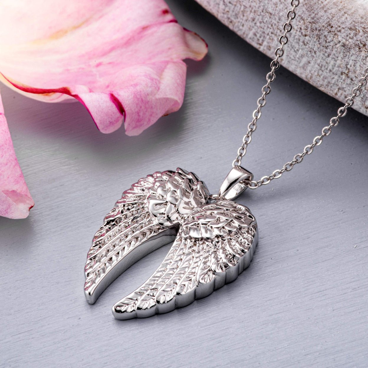Load image into Gallery viewer, EverWith™ Self-fill Angel Wings Cremation Ashes Pendant