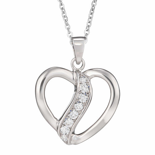 EverWith™ Self-fill Broken Heart Cremation Ashes Pendant with Crystals