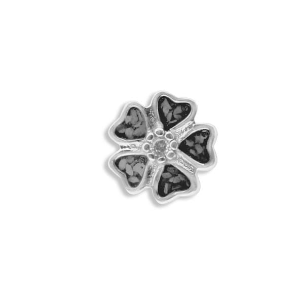 EverWith™ Large 5 Petal flower Memorial Ashes Element for Glass Locket