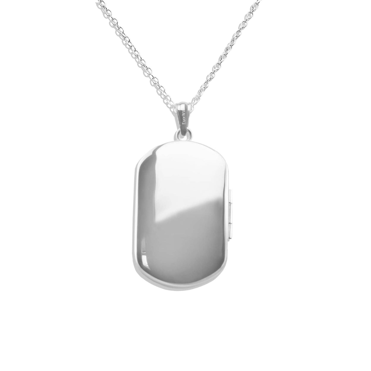 Load image into Gallery viewer, EverWith™ Large Rounded Rectangle Shaped Sterling Silver Cremation Ashes Locket