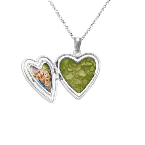 EverWith™ Paw Print Heart Shaped Sterling Silver Memorial Ashes Locket