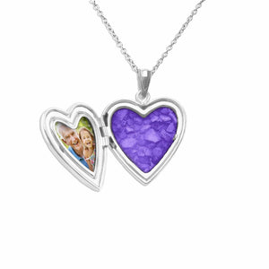 EverWith™ Dad Heart Shaped Sterling Silver Cremation Ashes Locket