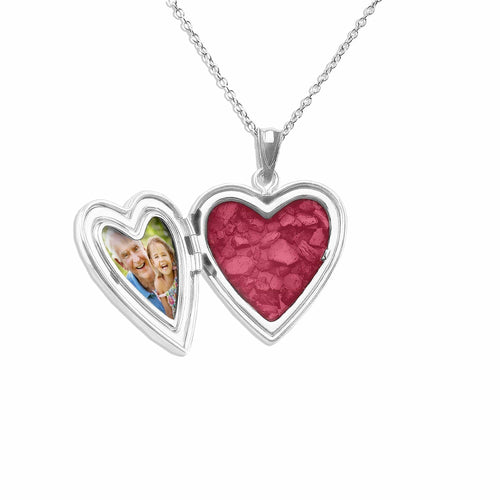 EverWith™ Dad Heart Shaped Sterling Silver Memorial Ashes Locket