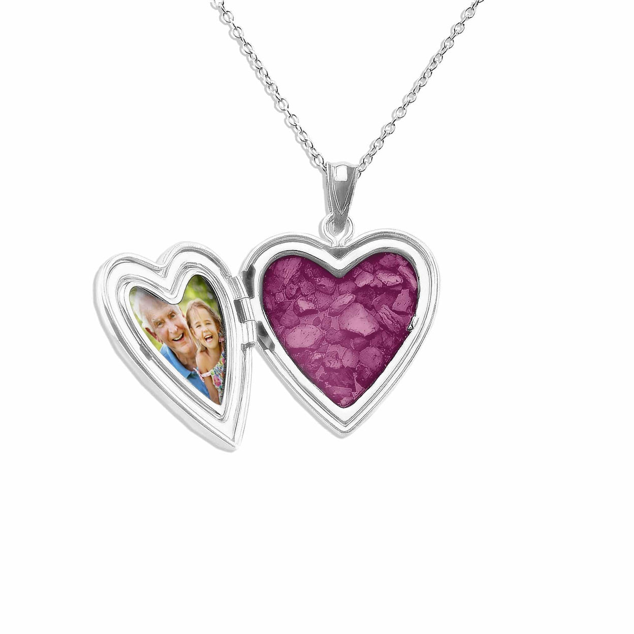 Load image into Gallery viewer, EverWith™ Footsteps Heart Shaped Sterling Silver Cremation Ashes Locket