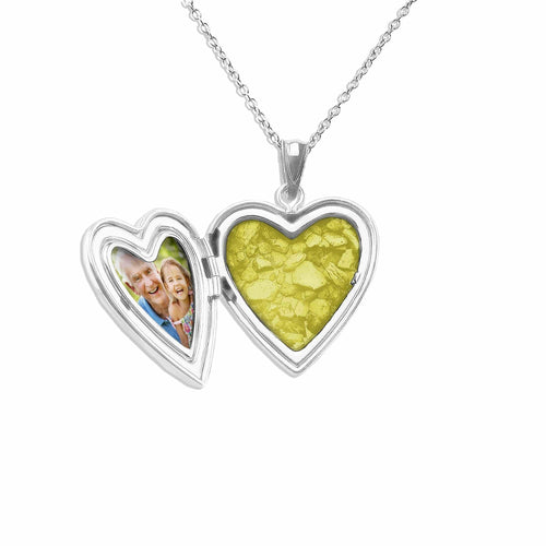 EverWith Small Heart Shaped Sterling Silver Memorial Ashes Locket