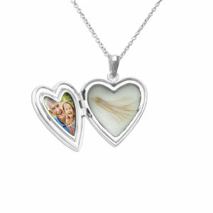 EverWith™ Mum Heart Shaped Sterling Silver Memorial Ashes Locket