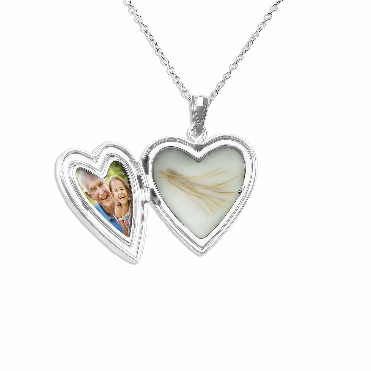 Load image into Gallery viewer, EverWith™ Pink Rose Heart Shaped Sterling Silver Cremation Ashes Locket