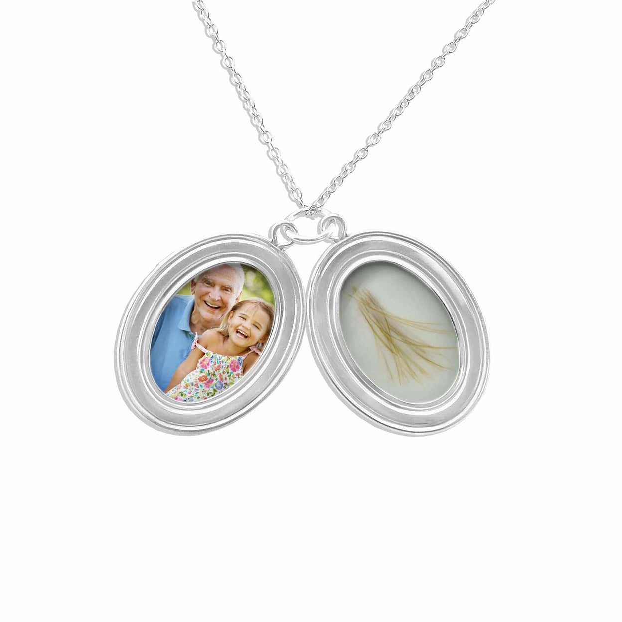 Load image into Gallery viewer, EverWith™ Shining Star Oval Shaped Sterling Silver Cremation Ashes Locket