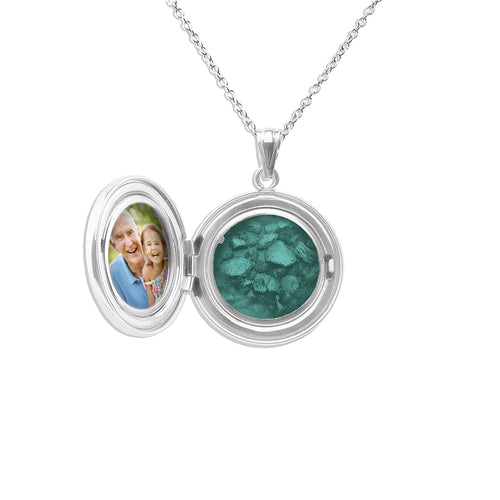 EverWith Circular Shaped Sterling Silver Memorial Ashes Locket