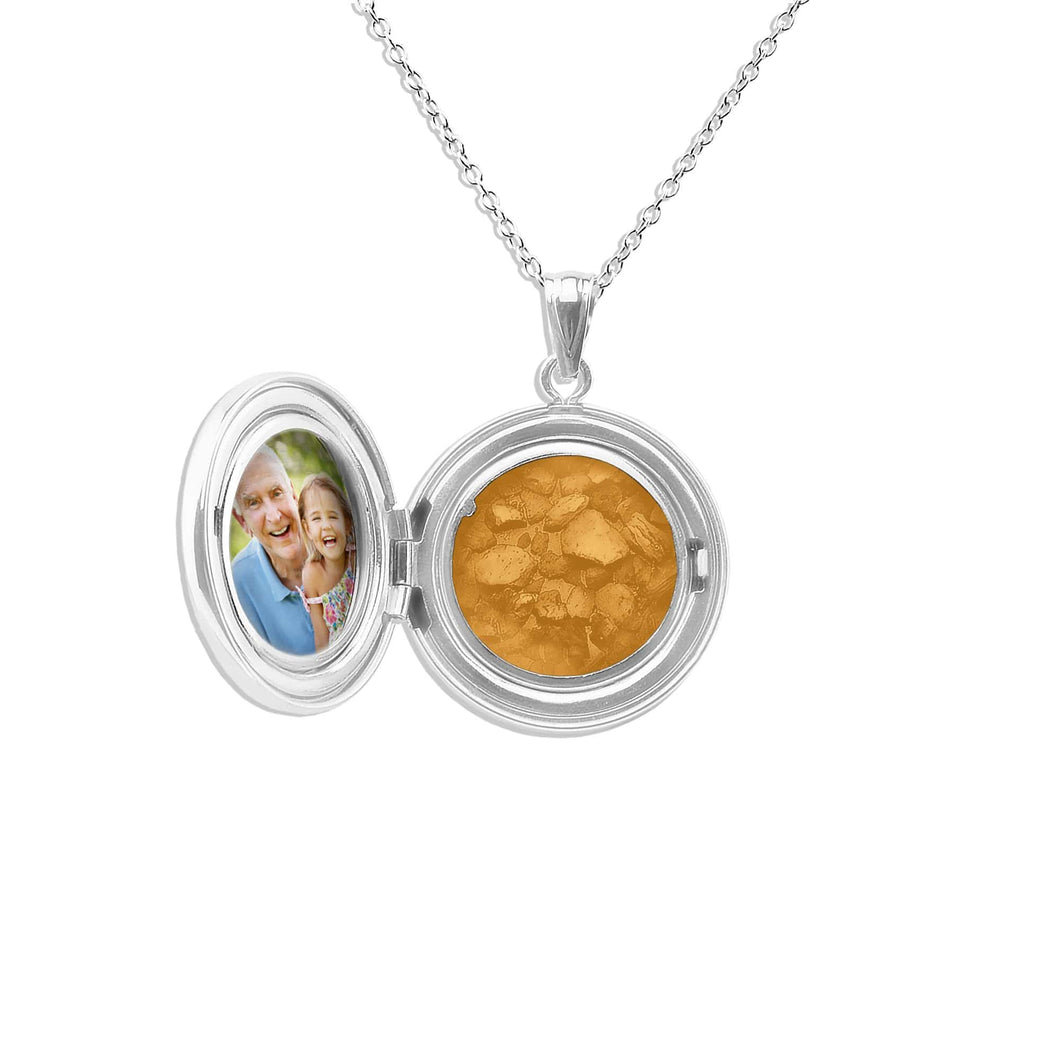 EverWith™ Circular Shaped Sterling Silver Memorial Ashes Locket