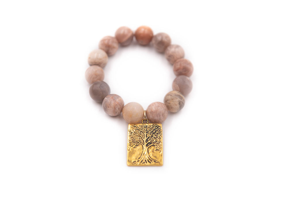 Chunky Sunstone Tree of Life Single
