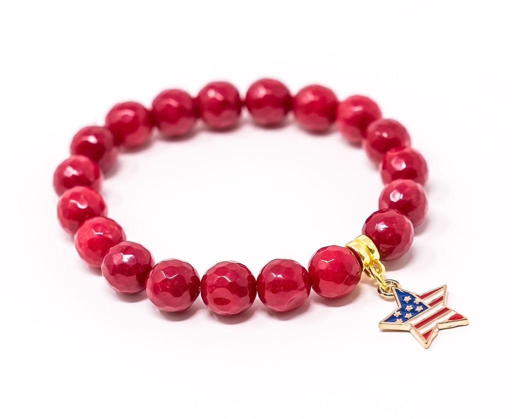 Stars and Stripes - Red Jade