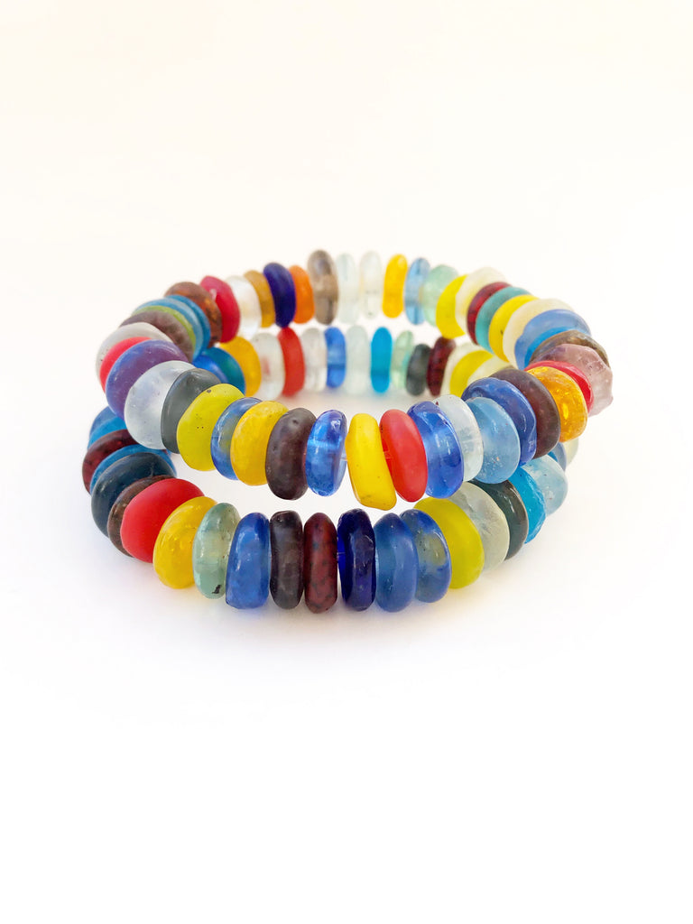 Rainbow Sea Glass Bracelet