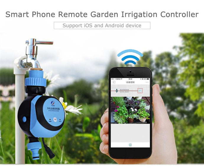 Smart Phone Remote Garden Irrigation Controller