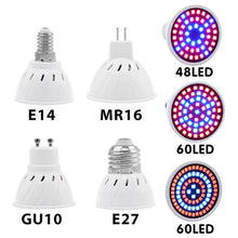 Load image into Gallery viewer, Full Spectrum cfl LED Grow Light Lampada E27 E14 MR16 GU10 IR UV Indoor Plant Lamp Flowering Hydroponics System Garden AC85-265V