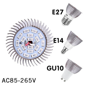 Full Spectrum cfl LED Grow Light Lampada E27 E14 MR16 GU10 IR UV Indoor Plant Lamp Flowering Hydroponics System Garden AC85-265V