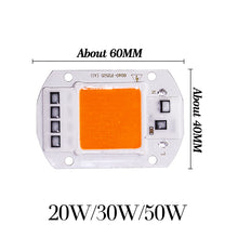 Load image into Gallery viewer, Cob Led Grow Light Chip Lamp Full Spectrum AC 110V 220V 20w 30w 50w DIY Indoor Plant Flower Tent Box Bloom Garden Hydroponics
