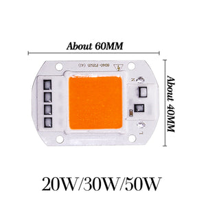 Cob Led Grow Light Chip Lamp Full Spectrum AC 110V 220V 20w 30w 50w DIY Indoor Plant Flower Tent Box Bloom Garden Hydroponics