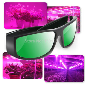 Professional LED Grow Room Glasses UV Polarizing Goggles for Grow Tent Greenhouse Hydroponics Plant Light Eye Protect Glasses