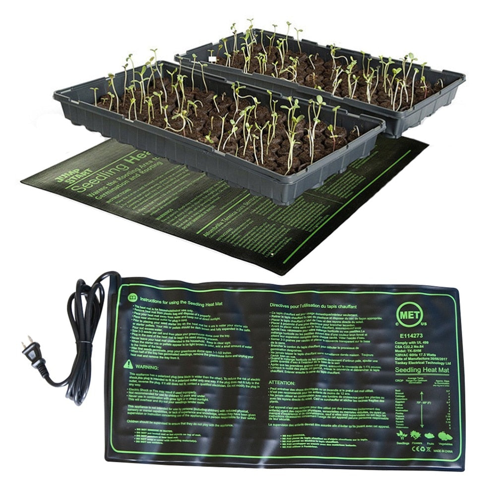 Seedling Heating Mat 50x25cm Waterproof Plant Seed Germination Propagation Clone Starter Pad 110V/220V Garden Supplies 1 Pc
