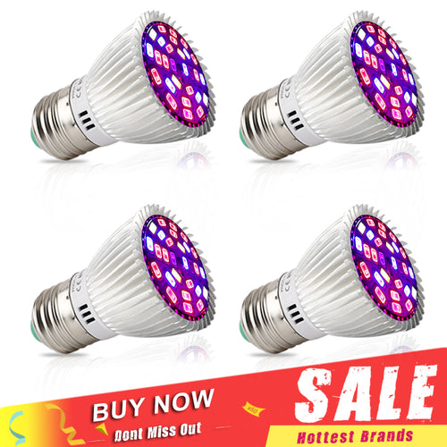 4pcs/Lot Full Spectrum 28W LED Grow Light