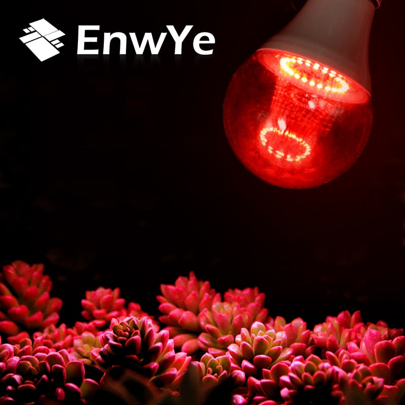 EnwYe Grow Light E27 220V 6W 12W Full Spectrum Indoor Plant Lamp For Plants Vegs Hydroponic System Plant