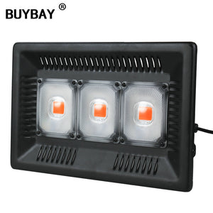 BUYBAY Led Grow Light Full Spectrum 100W 200W 300W IP67 COB Grow LED Flood light for Plant Indoor Outdoor Hydroponic Greenhouse